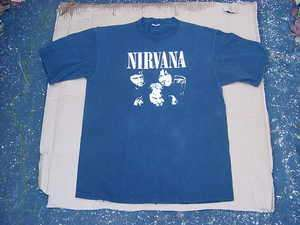 RARE VINTAGE 1989 NIRVANA SUB POP T SHIRT W/ CHAD CHANNING