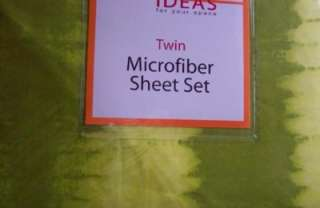 Bright Lime Green Tie Dye Twin Sheet Set New