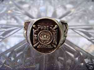 STERLING SILVER 925 IN HOC SIGNO VINCES MASONIC RING