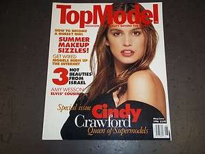 1996 MAY JUNE TOP MODEL MAGAZINE   CINDY CRAWFORD   II 4584