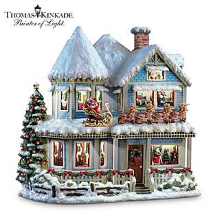 Kinkade Twas The Night Before Christmas Collectible Story House