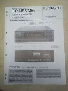 Service Manual~DP MB5/MB9 CD Compact Disc Player~Original~Repair