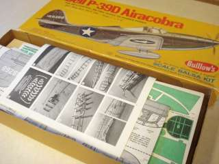 GUILLOWS BELL P 39D AIRACOBRA MODEL AIRPLANE KIT **