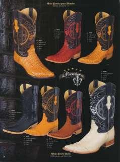 Premier Genuine Caiman/Ostrich Mens Cowboy Western Boots Diff. Colors