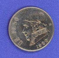 1980 UN PESO MEXICAN COIN MEXICO