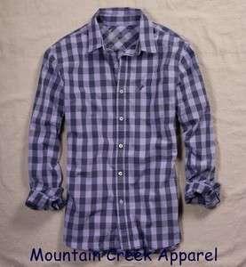 NWT AMERICAN EAGLE Mens Check Shirt Purple L