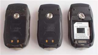 Verizon Casio Gz One Boulder Cell Phones Lot of 3 ASIS For Parts