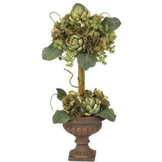 Artichoke Topiary Silk Flower Arrangement 4633