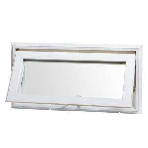 TAFCO WINDOWS Vinyl Awning Window, 32 in. x 16 in., White, Top Hinge