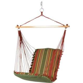Island DuraCord CushionedSingle Swing Hammock with Spreader Bar