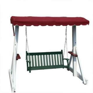 Recycled Plastic Green Outdoor Swing withour Canopy Top  DISCONTINUED