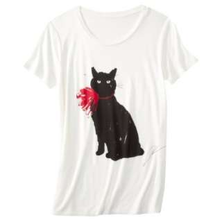 JASON WU Target LIMITED EDITION Short Sleeve Cat Print T Shirt Tee
