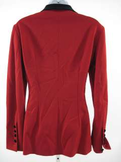 GIOGUERRERI Red Wool Blend Blazer Jacket Sz 44