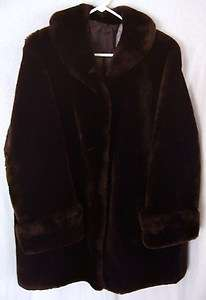 VTG SHEARLING LADIES LONG COAT THICK WARM NICE SIZE MEDIUM