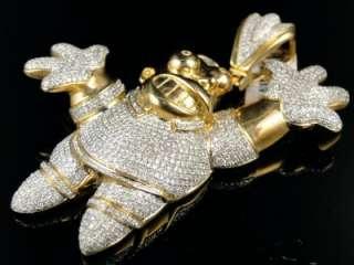 10K YELLOW GOLD CARTOON HOME SIMPSON DIAMOND PENDANT
