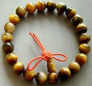 Tiger Eye Beads Buddhist Prayer Bracelet Mala