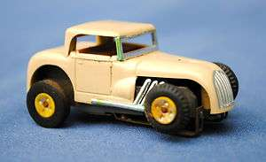 VINTAGE AURORA TAN HOT ROD COUPE HO SCALE SLOT CAR