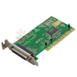 NEW PCI PARALLEL 1 PORT CARD WORK WINDOWS 7 LOW PROFILE