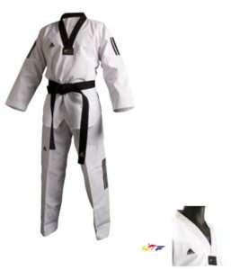 Adidas Taekwondo Anzug ADI CLUB 3 Stripes, TKD Dobok