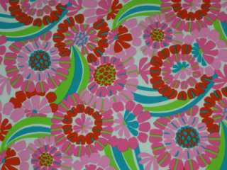 MOD FLORAL LYCRA FABRIC/PINK GREEN RETRO LYCRA 4WAY BTY