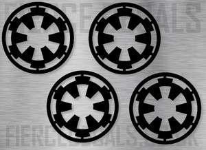 4x Star Wars Imperial Insignia DECAL STICKER GRAPHIC 6c