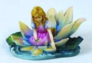 Little Girl on Petals Horizon Statue Figurine Josephine Wall