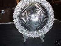 Crystal Depression Glass Miss America Dinner Plate