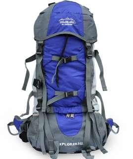 70L Internal Frame Hiking camping Travel Backpack Bag B