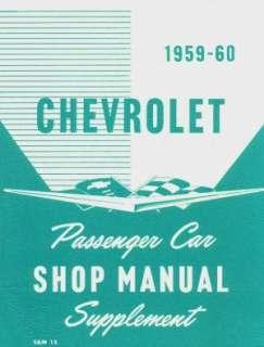 CHEVROLET 1959 60 Impala/El Camino/Bel Air Shop Manual