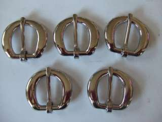 Of 5 Leather Strap Nickle Buckle~ Make Belt Saddle Replacement