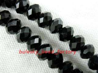 P20pcs Faceted Glass Crystal Gemstone Bead 12mm Black