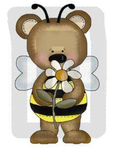 LADYBUG BEE BEAR BABY NURSERY GIRL WALL STICKERS DECALS
