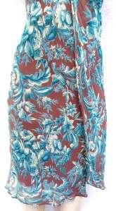 CDC brand FLORAL BEBE BLUE COLOR deco v neck Dress sz 4  