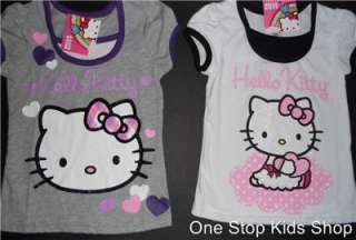 HELLO KITTY Girls 4 5 6 6X Short Sleeve SHIRT Top