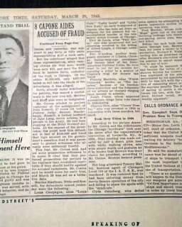 Al Capone Hitman SUICIDE Death Chicago Gangland Old Newspaper *