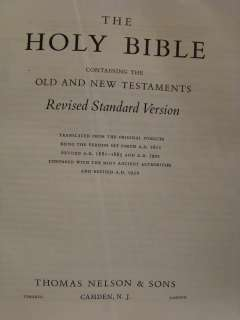HOLY BIBLE Fine KING JAMES VERSION Folio Signed Binding CALF LEATHER