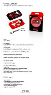 PUCCA PUM300 USB Flash Drive Memory RED BLACK 4GB 8GB 16GB [Official