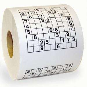 SUDOKU Toilet Paper Roll Game loo Tissue Novelty Gift