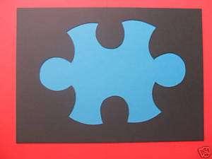 Puzzle Teil, Schablone, Wandschablone, 16 x 23 cm, neu