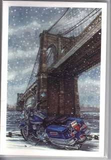 Harley Davidson Christmas Cards Pk/10 Motorcycle Biker