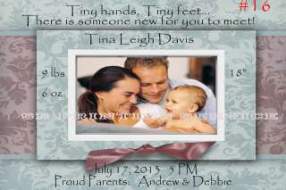 Baby Birth Announcement Cards Personalized with your Babys Picture