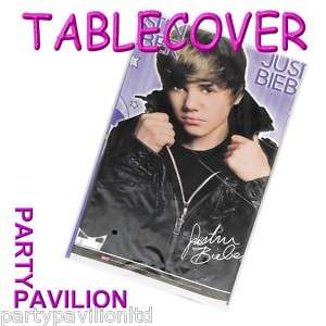 Justin Bieber Plastic Table cover   Party Table cloth