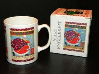 Mary Engelbreit Believe Christmas Coffee Mug Santa New in Box