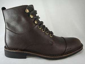 Cole Haan Mens Air Blythe Dark Brown Leather Cap Toe Lace up Casual