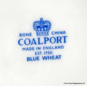 COALPORT BLUE WHEAT BONE CHINA MILK JUG