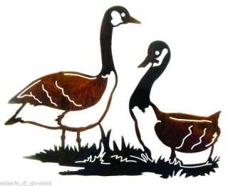 Canadian Geese Metal Wall Art Bird Goose Hunting
