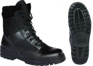 LEATHER COMBAT PATROL BOOT TACTICAL BLACK CADET ALL SIZES NEW