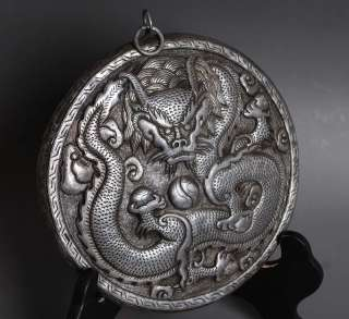 Iron Thangka Tibet Buddhist Hand Engrave DRAGON