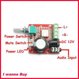 HiFi DIY DC 12V PAM8610 Mini Audio Amplifier Board 10W+10W