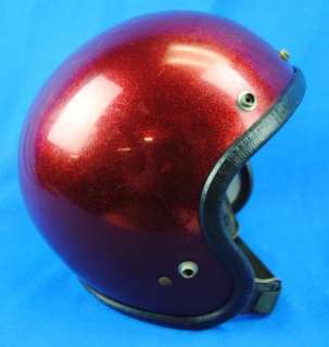 Vintge RN45571 Red Sparkle Glitter Motorcycle Helmet L